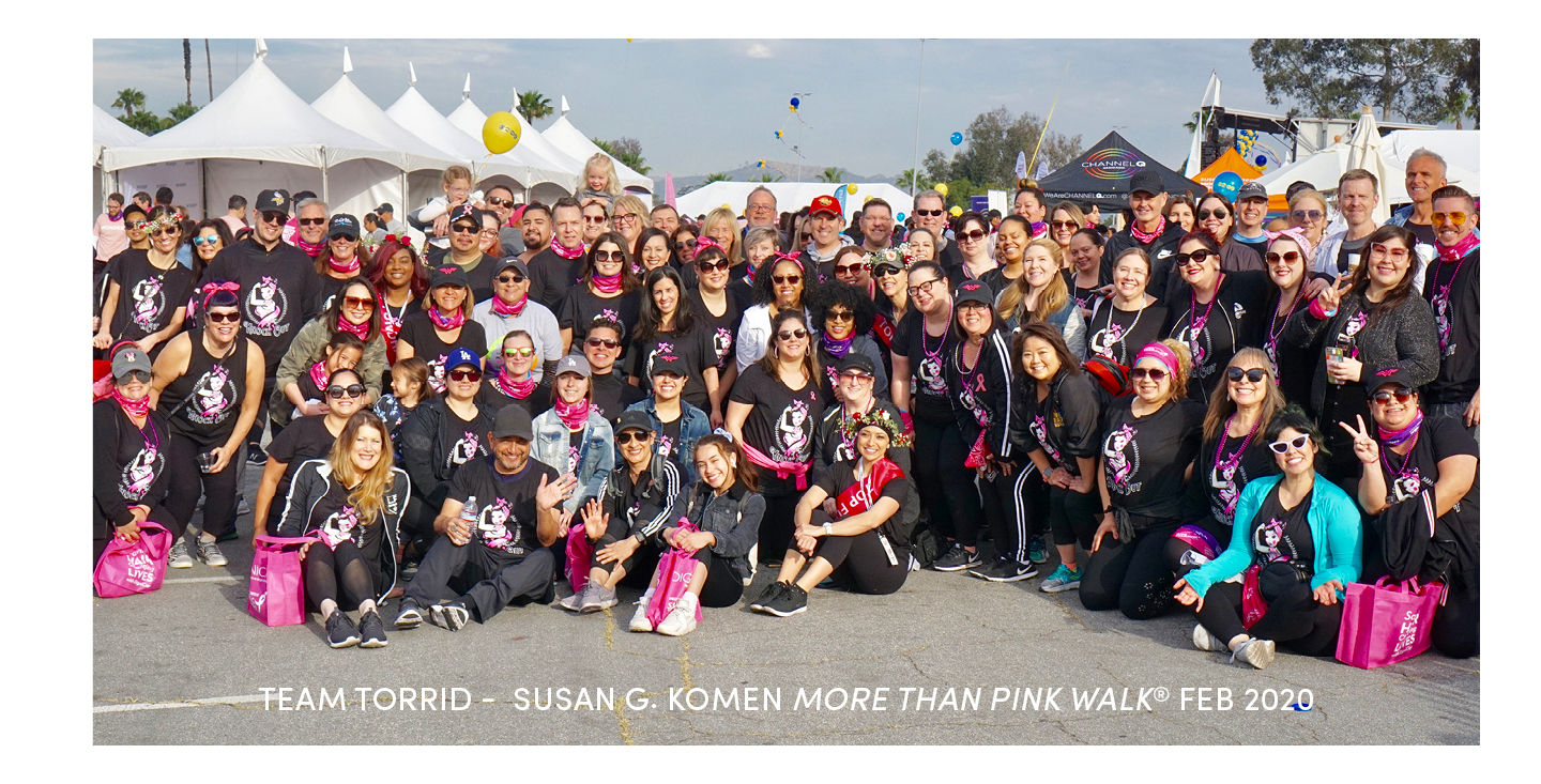 Torrid Foundation - Team Torrid Susan G. Komen More than Pink Walk Feb 2020