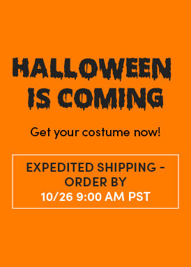 Halloween Is Coming. Get your costume now! Standard Shipping Order By 10/26 9:00 AM PST. Shop Halloween