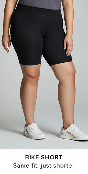 Bike Shorts Leggings. same fit, just shorter
