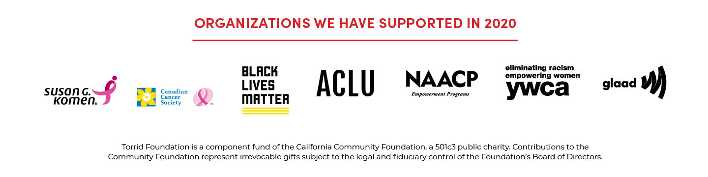 Organizations We Have Supported In 2020 - Susan G. Komen, Canada Cancer Society, Black Lives Matter, ACLU, NAACP, elimating racism empowering women ywca, glaad