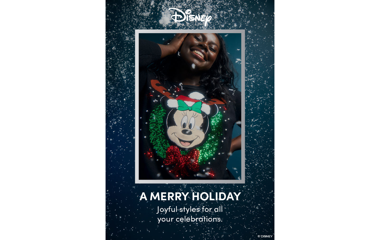 Disney A Merry Holiday Joyful Styles for all your Celebrations