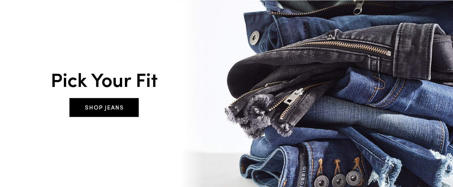 Pick Your Fit. Shop Jeans