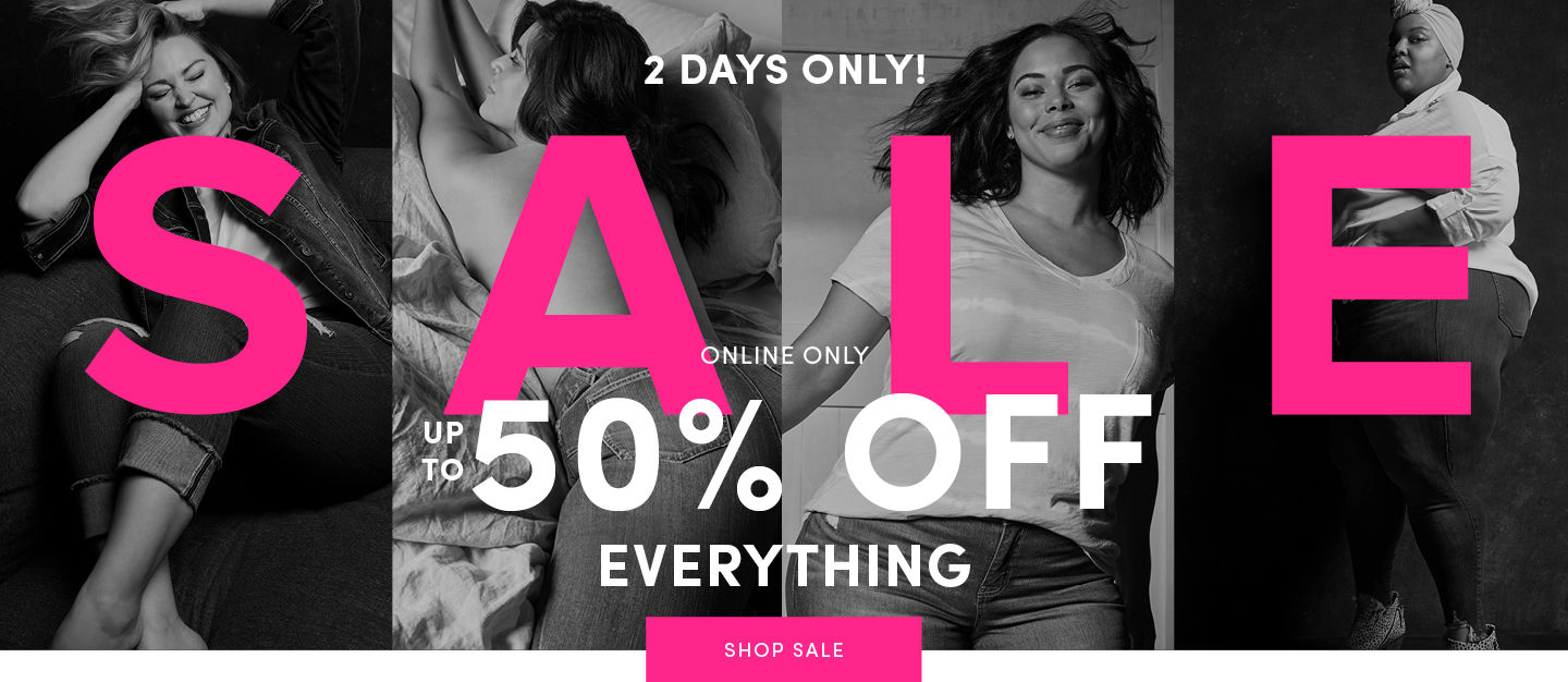 2 Days Only! Up to 50% Off Everything Shop Sale