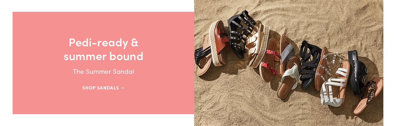 Pedi-ready & summer bound. The summer sandal. Shop sandals