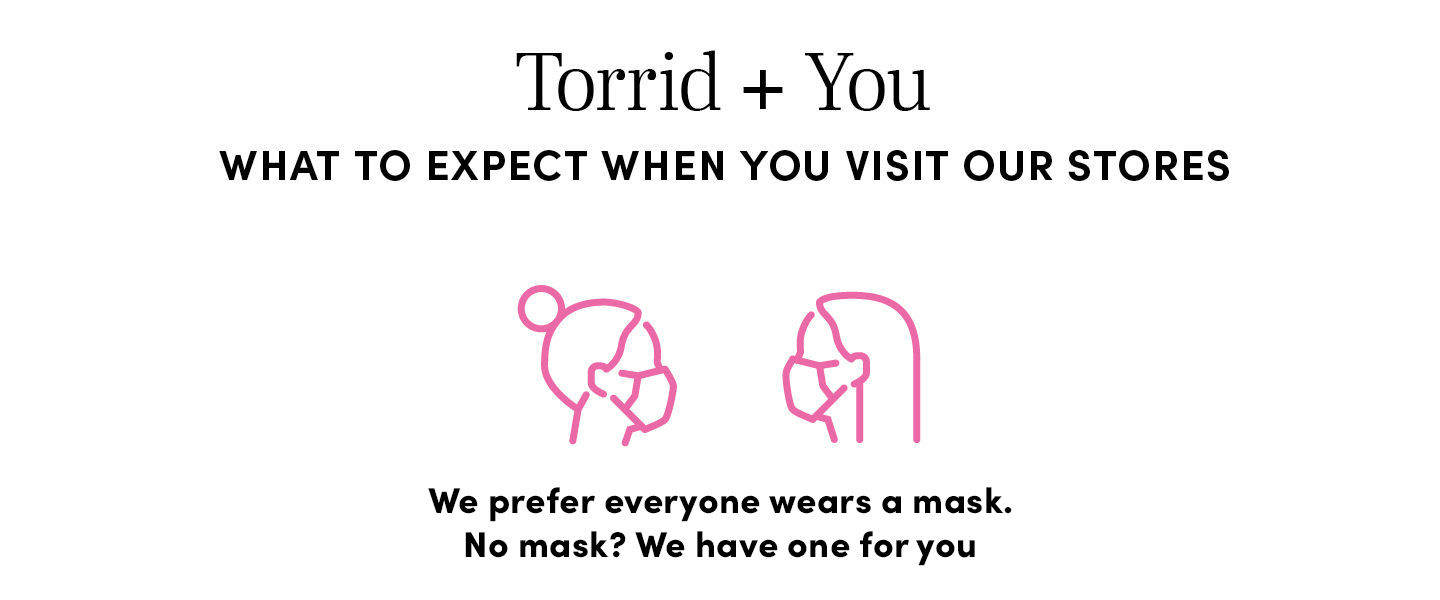 We prefer everyone wears a mask. No mask? We have one for you
