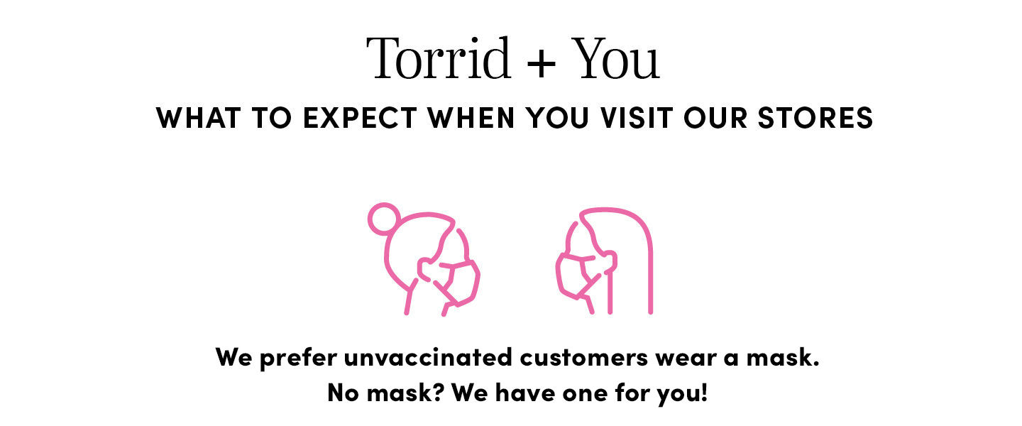 We prefer unvaccinated customers wear a mask. No mask? We have one for you
