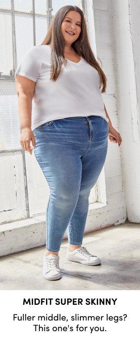 Platinum jeans, luxe details & fabrics