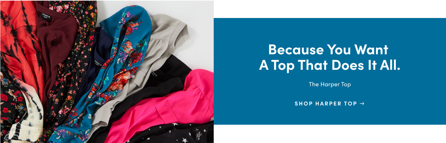 Because you want a top that does it all. The harper top. Shop Harper Top