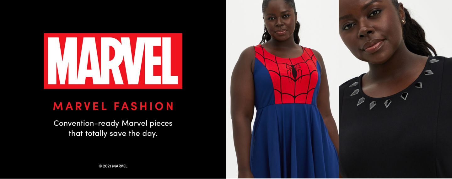 Marvel Fashion. Convention-ready Marvel pieces that totally save the day.