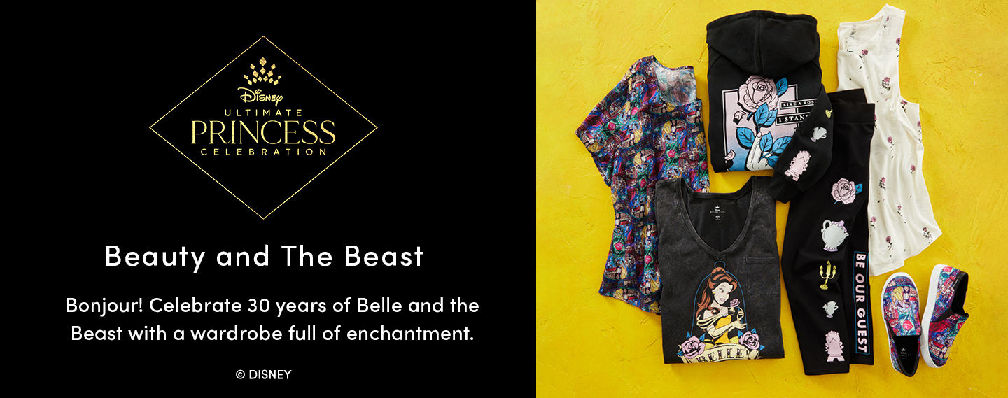 Disney Ultimate Princess Celebration. Beauty and the Beast. Bonjour! Celebrate 30 years of Belle and the Beast with a wardrobe full of enchantment.