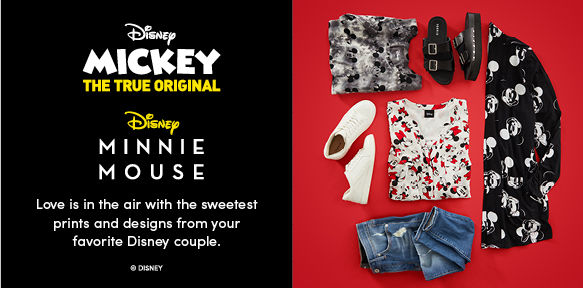 Disney Mickey the True Original. Disney Minnie Mouse. Love is in the air with the sweetest prints and designs from your favorite Disney Couple
