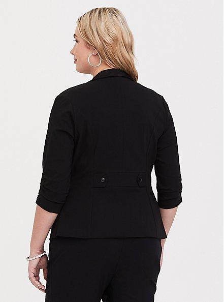 Plus Size Studio Lexington Millennium Stretch Blazer - Black, RICH BLACK, alternate
