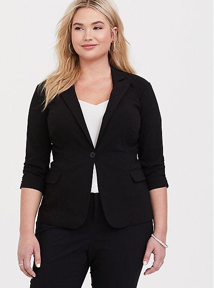 Plus Size Studio Lexington Millennium Stretch Blazer - Black, RICH BLACK, hi-res