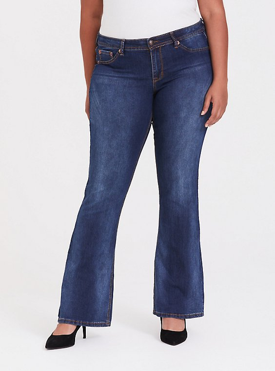 Plus Size Slim Boot Jean - Medium Wash, , hi-res