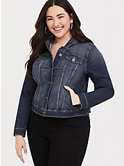 Denim Jacket - Medium Wash, MEDIUM WASH, alternate