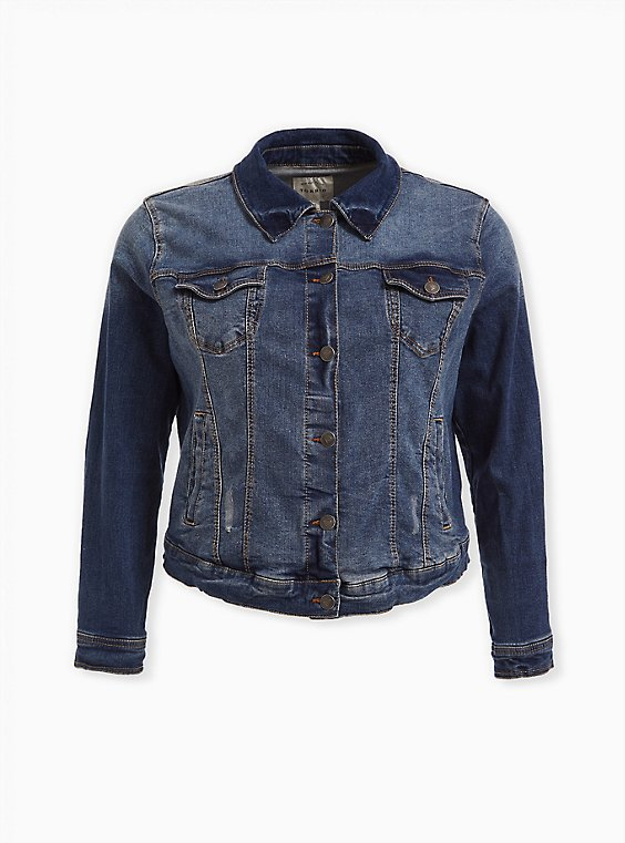 Denim Jacket - Medium Wash, MEDIUM WASH, ls