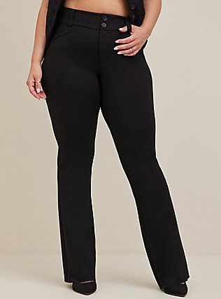 Plus Size Studio Signature Premium Ponte Stretch Trouser - Black, DEEP BLACK, alternate