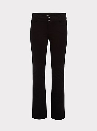 Plus Size Studio Signature Premium Ponte Stretch Trouser - Black, DEEP BLACK, flat