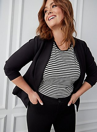 Plus Size Studio Premium Ponte Stretch Skinny Pant - Black, DEEP BLACK, alternate