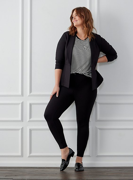 Plus Size Studio Premium Ponte Stretch Skinny Pant - Black, , hi-res