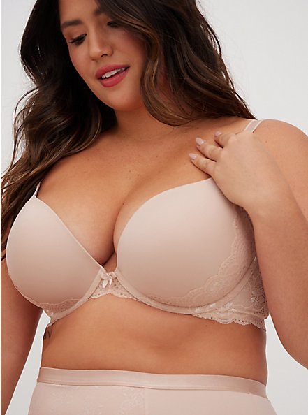 Nude Push-Up Plunge Bra, ROSE DUST, alternate