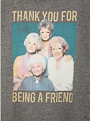 Classic Fit Crew Tee - Golden Girls Burnout Grey , MEDIUM HEATHER GREY, alternate