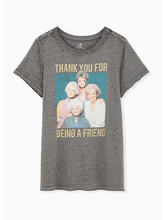 Classic Fit Crew Tee - Golden Girls Burnout Grey , , hi-res