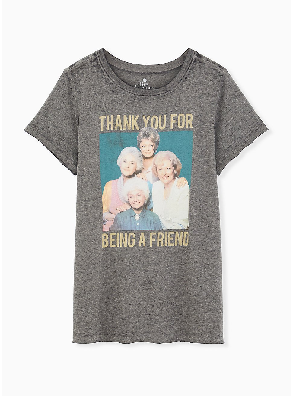Classic Fit Crew Tee - Golden Girls Burnout Grey , MEDIUM HEATHER GREY, hi-res